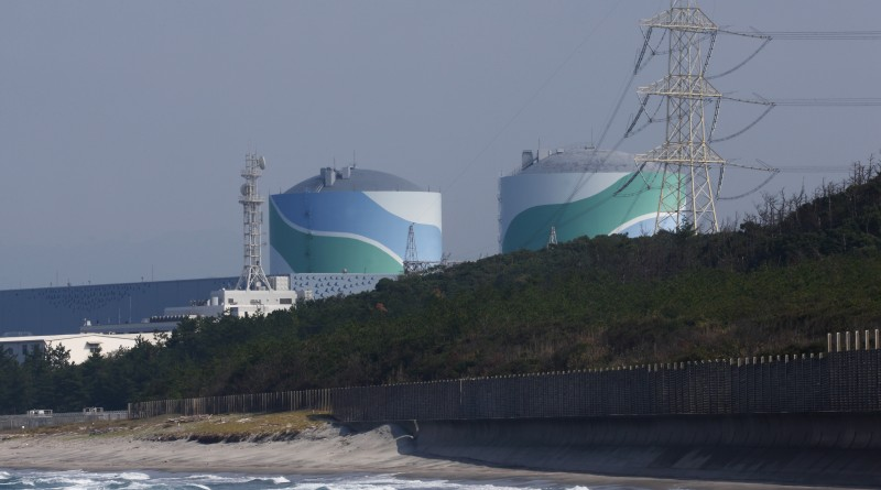 Kyushu Electric Power Co.'s Sendai Nuclear Power Plant stands in Satsumasendai, Kagoshima Prefecture, Japan, on Monday, Oct. 27, 2014. Residents near the Sendai nuclear plant in southern Japan vote on Oct. 28 whether to resume operations at the facility, highlighting a conflict between Japanese who benefit from the largess of the industry and those who don't. Photographer: Tomohiro Ohsumi/Bloomberg