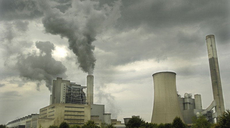 Frimmersdorf power plant , coal-fired (lignite), run by RWE.Near Grevenbroich in North-Rhine Westphalia, Germany .According to a WWF study, this power plant is the second worst climate polluter in Europe.