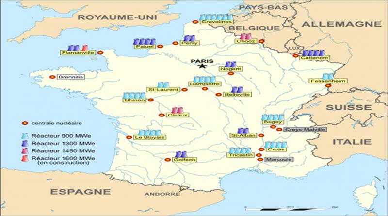 fransa nükleer harita